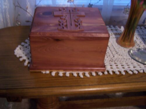 Solid Cedar Wood Cremation Urn Adult (Made IN USA)