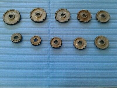 6 Craftsman Atlas 109 618 101 Lathe Gears. All New Original Except One.