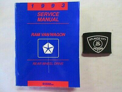 1993 DODGE RAM VAN WAGON REAR WHEEL DRIVE SERVICE SHOP REPAIR MANUAL