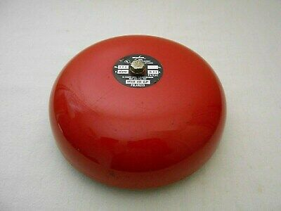 Amseco 486n Red Fire Alarm Bell 82 C Signal Bell 8 Inch.
