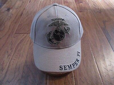 U.S Military Marine Corps EGA Hat Semper Fi Embroidered USMC Licensed Ball Cap