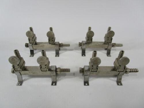 Lot of 4 Tap Rite beer keg line valves bar