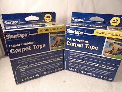 Shurtape Indooroutddor Carpet Tape 1.88 X 75 Ft Each 2pk Bundle