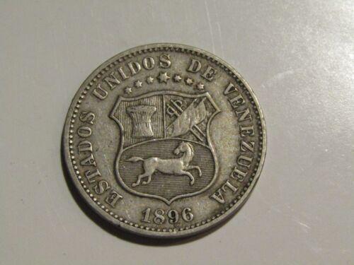 Venezuela 1896 12 1/2 Centimos Coin