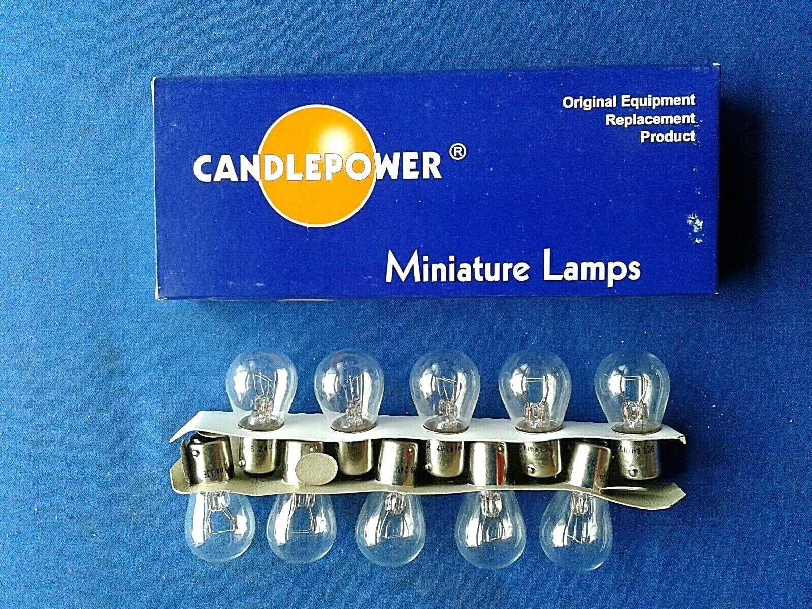 Candlepower Miniature Light Bulbs # 1638 24V 3CP Set of 10