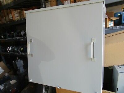 Hoffman A24r2412 Nema 3r Enclosure W 4 Pole Panel Distribution Block- Used