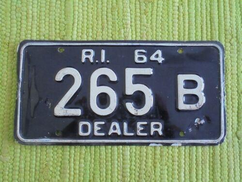 1964 Rhode Island DEALER License Plate RI TAG  265 B