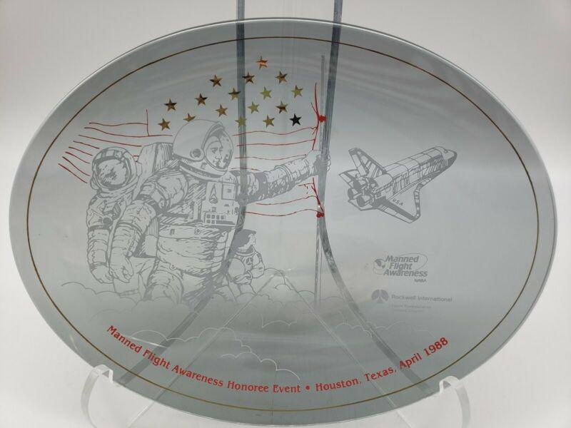 1988 FLIGHT HONOREE EVENT HOUSTON TEXAS SPACE CENTER NASA PLATE Charles Bolden