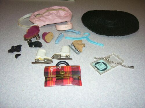 Antique Vintage Vogue Ginny Doll Accessories Hat Shoes Skates Jewelry Purses