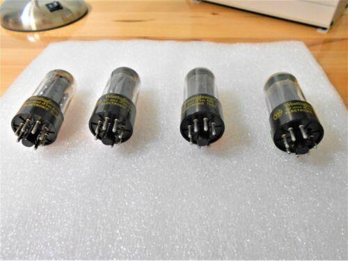 Vintage Westinghouse 7591 Tube Quad Quartet Set of 4 Tested Almost NOS Excellent