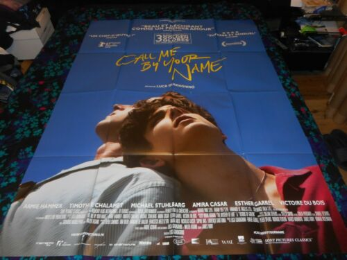 CALL ME BY YOUR NAME - ORIGINAL HUGE FRENCH POSTER - CHALAMET/HAMMER