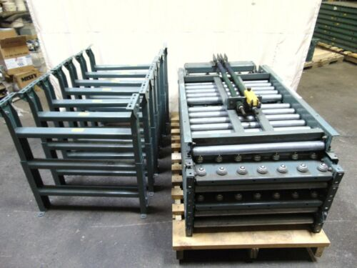 Hytrol Gravity Roller & Ball Conveyor With Legs And Lift Gate