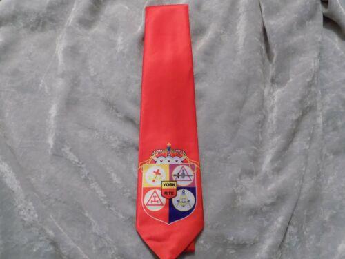 Red Bodies of York Rites Necktie Masonic Freemason Fraternity NEW!