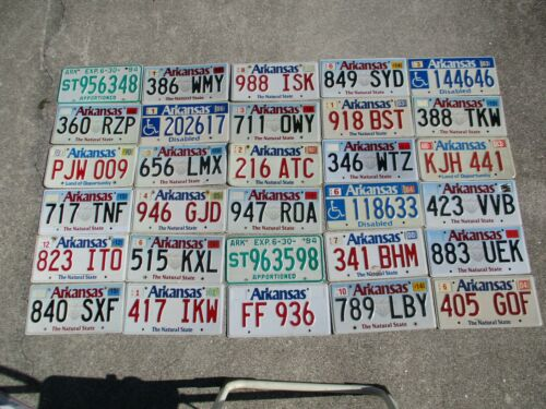 30 Arkansas license plate lot for collecting or decorating