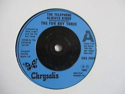 FUN BOY THREE  - THE TELEPHONE ALWAYS RINGS / THE ALIBI  - VINYL 45  -1982