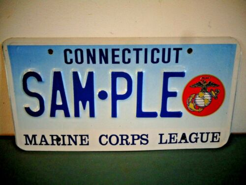 CONNECTICUT SAM-PLE MARINE CORPS LEAGUE LICENSE PLATE