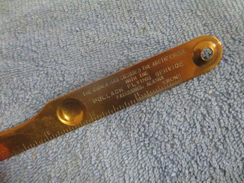 """1930 Pollack Flying Service Fairbanks Alaska letter opener """"Owner has xed Artic"""""""