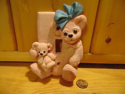 Hermitage Pottery Farmers Market Teddy Bear Switch Cover 1995