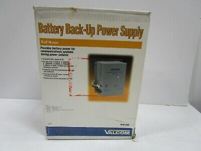 VALCOM BATTERY BACK-UP SUPPLY VPB-260 NEW OPENED BOX SEE -
