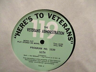 Here's To Veterans LP With  Seth & Wendell Adkins