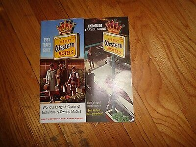 Lot Two Vintage Best Western Hotel Motel Guides 1967 1968