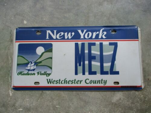 New York Hudson Valley Westchester County license plate #  MELZ