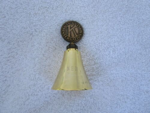 Vintage Kiwanis International Brass Bell ~~NICE!!!!