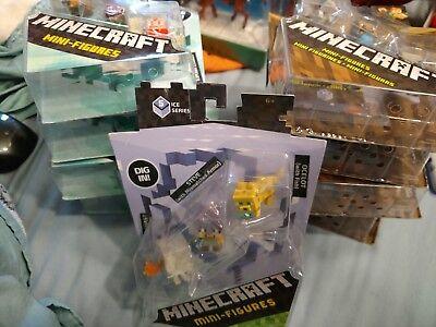Minecraft minifigures BRAND NEW Biome, Wood, Greek Mythology series sets