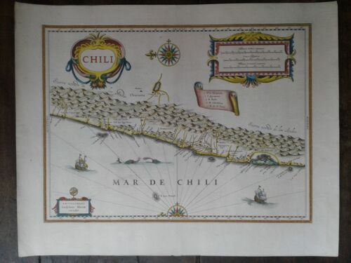 chile Map blaeu beautiful color
