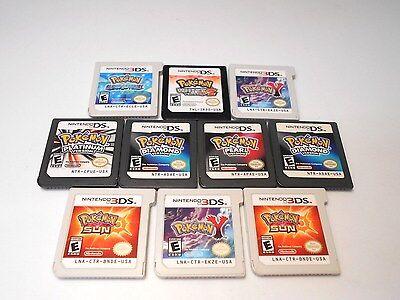 Nintendo ds & 3ds Pokemon games go select title lite dsi xl 2ds 3ds game