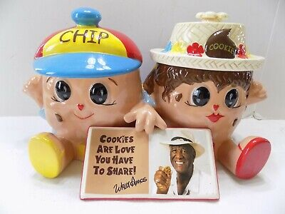 "Collector ""Wally Amos"" Cookie Jar 1st in Series FAMOUS AMOS COOKIES (6)"
