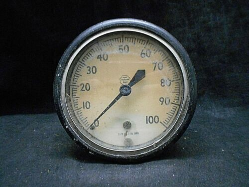 ACCO Helicoid USA Made Air Pressure Gauge 0-100 PSI SUBD. Industrial Equipment