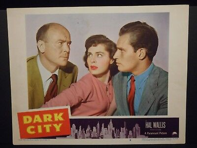 Dark City 1950 orig Lobby Card #8 Fine Charlton Heston Viveca Lindfors Film Noir
