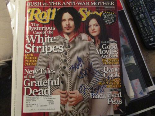 RARE White Stripes Signed Rolling Stone Magazine Signed Boldly by Jack & Meg !