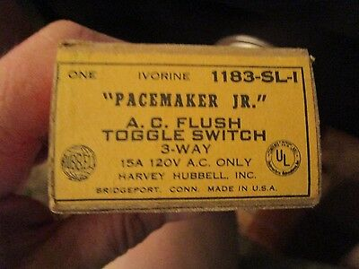 Vintage Pacemaker Jr. Single Pole Toggle Light Hubbell Switch 1183-sl-1 Ludlot