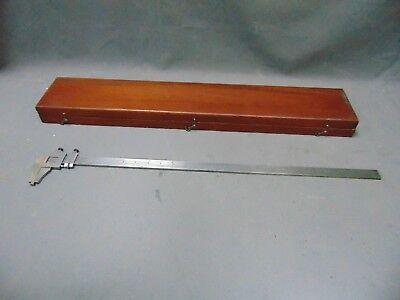Vintage Brown Sharpe Inside Outside Vernier 25 Caliper No. 570 Machinist Tool