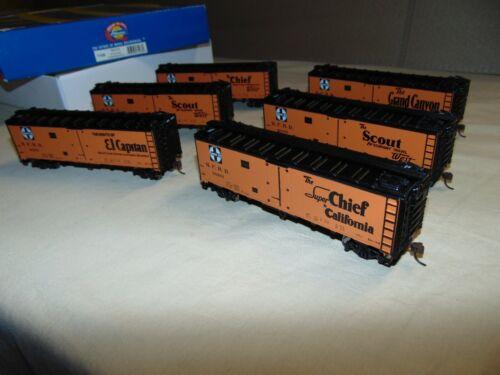 ATHEARN HO 71438 6 PACK SANTA FE REEFER SET IN ORIGINAL BOX...