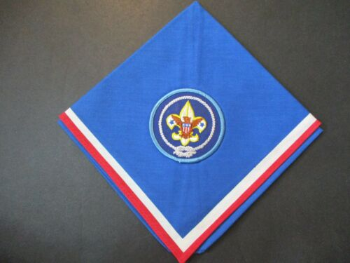 Red white and blue boy scout neckerchief