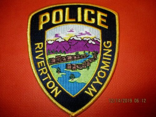 Collectible Wyoming Police Patch,Riverton,New