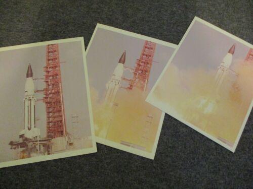 "NASA MSFC ORIGINAL SA-5 1ST GEN PHOTO ""A KODAK PAPER"" 3 PHOTO SERIES PAD LIFTOFF"