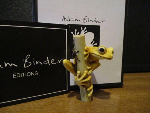 Harmony Kingdom Artist Adam Binder Frog On Cane Yellow 217/250 RARE