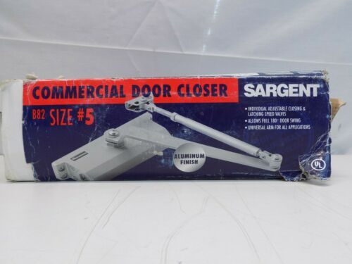 Sargent Commercial Door Closer B82 Size #5 Aluminum Finish
