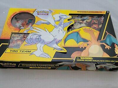 Pokemon 2019 Unbroken Bonds Reshiram & Charizard GX Figure Collection Box SEALED