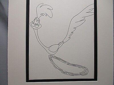 Road Runner Speeding Fastest Bird Alive      Looney Tunes   1960,s Line Drawing