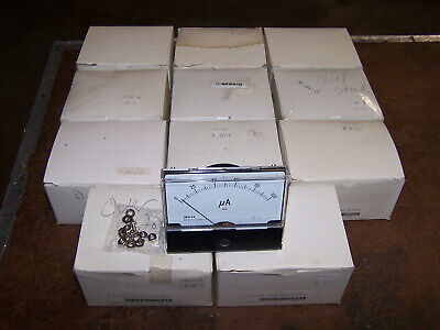 Radioshack Vintage Large Analog Panel Meters 0-100 Microamps Lot Of 11