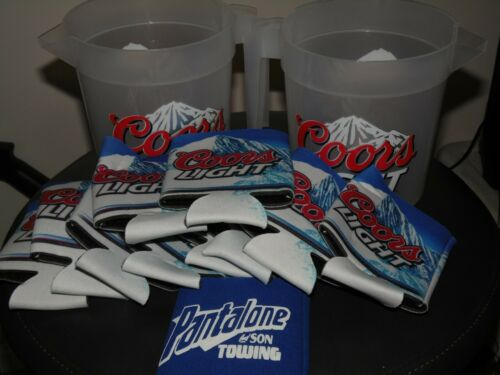 Coors Light Pitcher and Cup Holder Set new