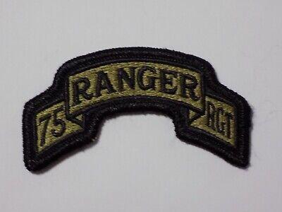 75th Ranger Regiment Hook Fastener Tab Scroll  -