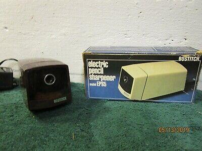Vintage Bostitch Model Eps5 Desktop Electric Pencil Sharpener Wbox Brown Works