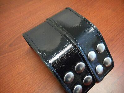 Gould Goodrich H129cl B129 Quad Snap Belt Keeper Higloss Clarino Silver 2-pack