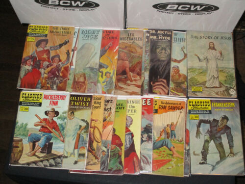 Classics Illustrated collection 21 issues worlds greatest authors! VG- 1964-1971